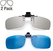 YEK Polarized Clip on 3D Glasses for RealD & IMAX3D Unisex Adult 2 Pack
