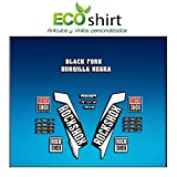 Ecoshirt CZ-ND5X-XQN0 Pegatinas Stickers Horquilla Rock Shox Reba 2016 Am111 Fork Aufkleber Decals Autocollants Adesivi Forcela Gabel Fourche, Blanco