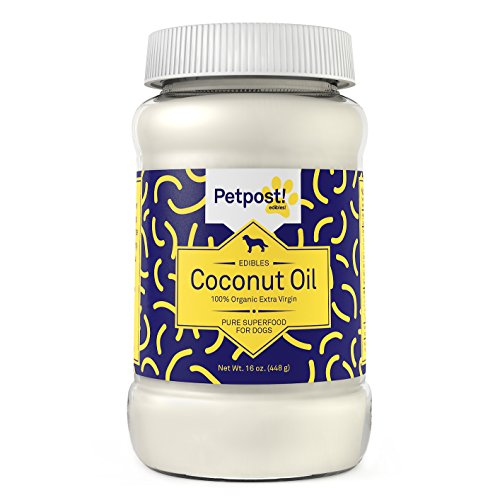 Petpost | Coconut Oil for Dogs - Certified Organic Extra Virgin Superfood for Skin & Coat Hot Spots and Itch - 16 Oz. (16 Oz.)