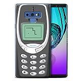 Stuff4 Coque Gel TPU de Coque pour Samsung Galaxy Note 9/N960 / Nokia 3310 Gris Design/Portables rétro Collection