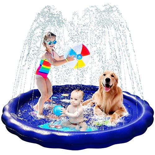 Splash Pad Sprinkler for Kids, 68'' Splash Pad for Big Kids Toddlers, Water Toys for Kids Outdoor Kids Sprinklers for Yard Kids Baby Pool Outdoor Swimming Pool for Kids 1-12 Year Old Boys Girls