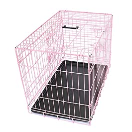 Greenbay Pet Puppy Crate Folding Dog Training Travel Cage with Detachable Tray