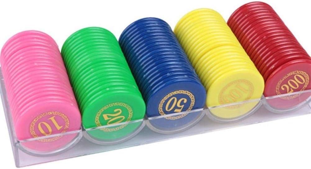 Kansas City Mall TX GIRL 100PCS Set Bingo Recommended Chips with Poker Plastic Box Acrylic Ch