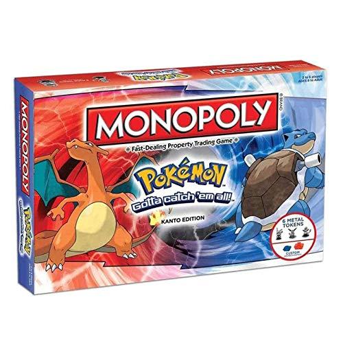 Qianghua Juego de Mesa Monopoly Pokemon Card Game, multijugador, Juegos de Estrategia de reunión Familiar para Adultos para Mayores de 8 años