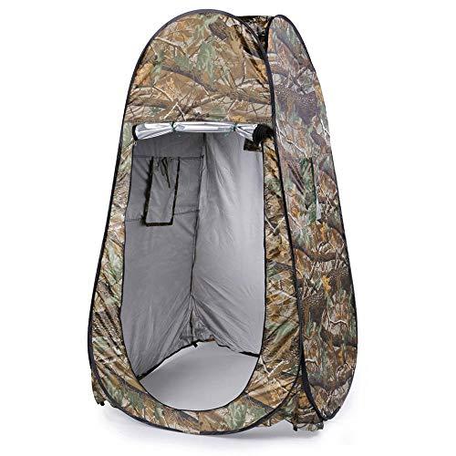 zhenshi Privacidad portátil Ducha Inodoro Camping Carpa emergente Camuflaje/función UV Carpa para vestirse al Aire Libre/Carpa para fotografía-UNA