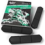 ADV Tennis Vibration Dampener - Set of 3 - Ultimate Shock Absorbers for Racket and Strings - Premium Quality, Durable, and 100% Reliable - Newest Technology (Midnight | Max Sorb 3-Pack)