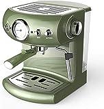 YINGGEXU Cafetera Tipo de Bomba Totalmente Espresso Estilo Retro Semi-automático de la máquina de café del hogar y de Vapor Comercial Tipo de Espuma de Leche de Vapor Fuerte