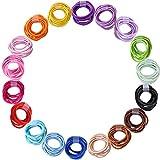 180 Stücke 2.5mm Baby Haargummis Mix Farben Elastische Haarbänder Pferdeschwanz Inhaber Haarschmuck für Babys Kleinkinder (18 Farben)