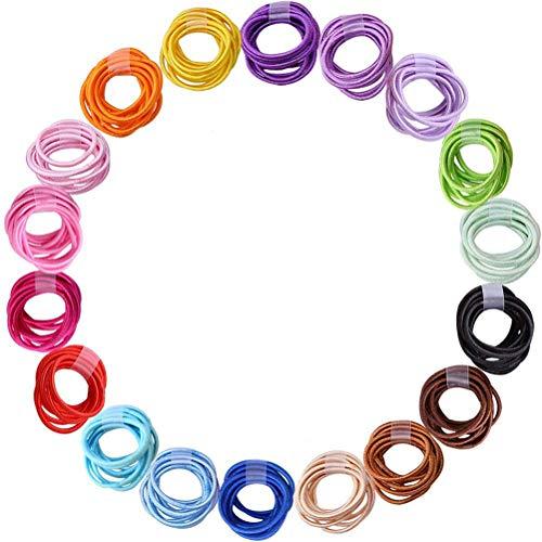 180 Pezzi 2.5 mm Cravatte per Capelli per Bambini colori misti Fasce per Capelli Elastici Supporti per Coda di Cavallo Accessori per Capelli per Neonati Neonati Bambini (18 colori)