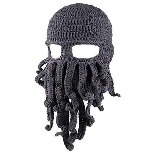 Bodbii Winter Unisex Tentacle Octopus Knit Beanie Hat Cap Wind Ski