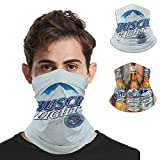 2PCS Beer Bandana Neck Gaiter Balaclava Face Mask Dust Wind Proof for Outdoor (Busch Light)