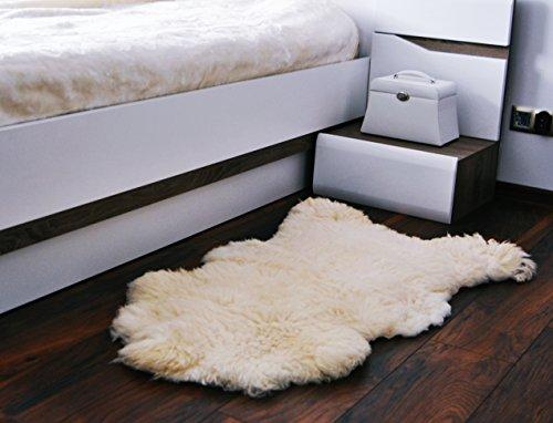 Merino Wool Alfombra Natural de Piel de Oveja. Bajada De Cama Piel Cuero De Oveja Cordero Lanar/Alfombras. 100% Lana/Islandés para Habitación para Dormitorio, Funda para sofá, Funda para Silla