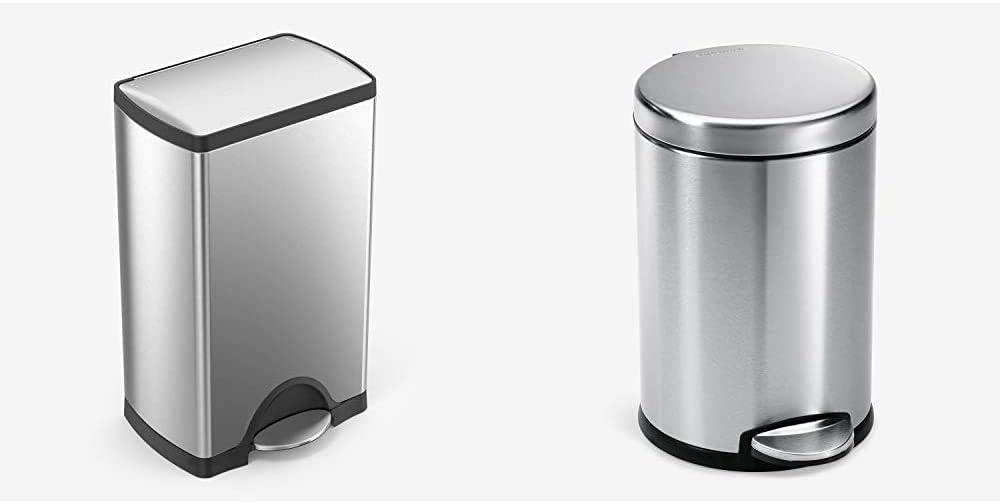 simplehuman Great interest 38 Liter 10 Gallon Step Trash Kitchen Max 84% OFF Rectangular
