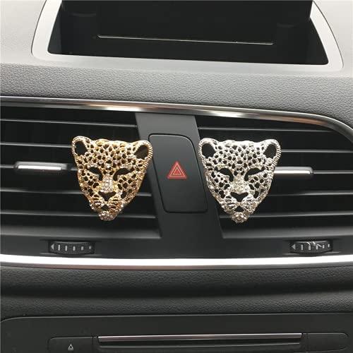 ACBP Fashion Leopard Head Outlet Vent Profumo Clip Per Rimuovere Odore Auto Interni Auto Profumo Deodorante In Auto