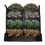 Macetero vertical con 8 compartimentos para jardinería, para colgar en la pared, bolsas de cultivo, decoración del hogar, jardín vertical