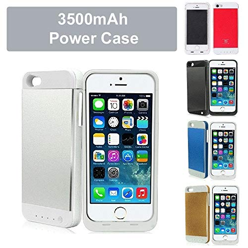 REALMAX 3500mAh Power Bank Case Draagbare Externe batterij-oplader iPhone 5 5S, 129 x 61.6 x 8mm, ZILVER