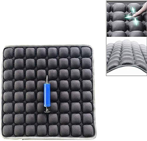 Breathable Lumbar Support Chair Cushion Air Inflatable Seat Cushion Air Fillable Chair Pad Airbag Adjustable Chair Cushion Breathable Seat Mat For Relieve Low Back Pain