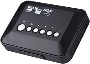 Vbestlife Media Player Media Player Reproductor Multimedia 1080P HD TV Digital 100Mbps Video RM/RMVB Admite USB Drive/Disco Duro Móvil 2.5T/Tarjeta SD,con Control Remoto (Negro)