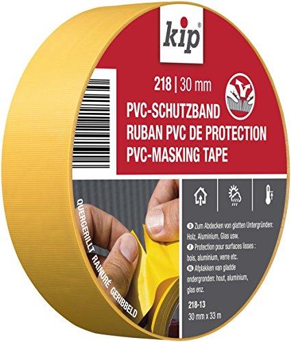 Kip PVC-Schutzband Profi Abklebeband für Maler und Lackierarbeiten, 30 mm x 33 m, Gelb, 30mm x 33m