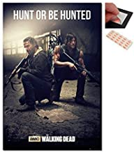 Bundle - 2 Items - The Walking Dead Hunt Or Be Hunted Poster - 91.5 x 61cms (36 x 24 Inches) and a Set of 4 Repositionable Adhesive Pads For Easy Wall Fixing