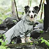 🐕【Special Design】 Fashion Fun Pet Raincoat is an opening design in the crotch of the hind legs, which is convenient for excretion outdoors. The back is designed with waterproof zipper and hidden zipper. The double waterproof design is suitable for bl...