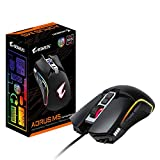 GIGABYTE AORUS RGB 16000 dpi Optical Sensor Fully Programmable and Saved Onboard 16.7M Customizable Lighting Gaming Mouse - GM-AORUS M5