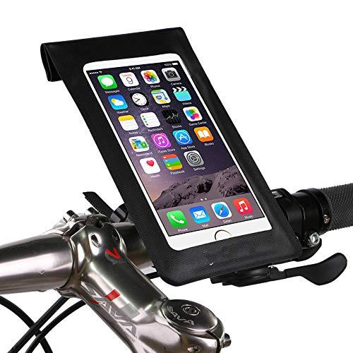 GTREW Waterdichte fietstas voor mountainbike, met vaste frame, waterdicht, geschikt voor mobiele telefoons van 5,5 inch