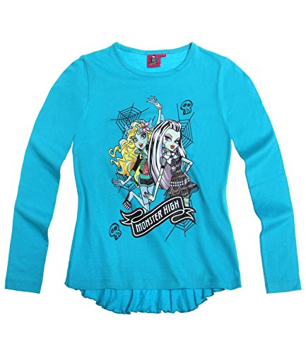 Monster High Chicas Camiseta mangas largas - Azul - 164