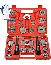 8MILELAKE ブレーキキャリパーツール 22点セット ブレーキパットや ブレーキディスクの交換用に使用 国産車輸入車対応 自動車メンテナンス工具