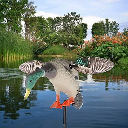 JINGBU Señuelo eléctrico con diseño de pato con mosca y soporte para...