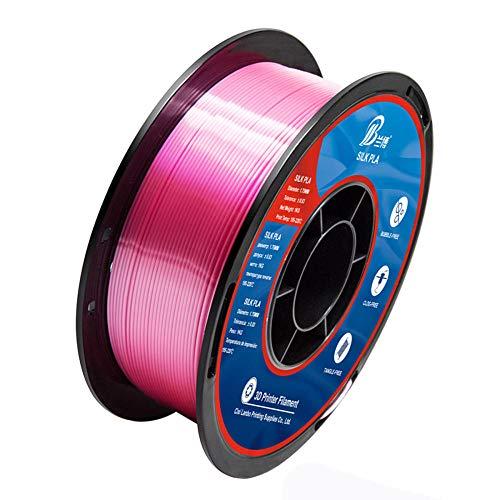 Seiden-PLA-Filament 1,75 mm, 3D-Druckerfilament 1 kg (2,2 lb), Maßgenauigkeit +/- 0,02 mm-rot