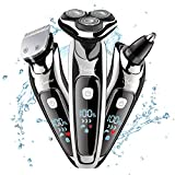 HATTEKER Mens Rotary Shaver Muilti-funtional 2 in 1 Professional Shaver for Men Electric