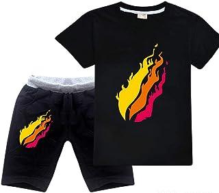 Batubatu Preston Playz prestonplayz Gamer Flame Unisex Kids Short Sleeve Set