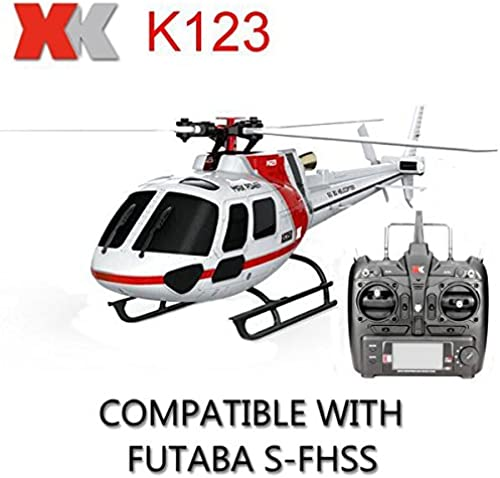 Calli XK K123 6CH Brushless AS350 Scale RC Hubschrauber RTF Mode 2