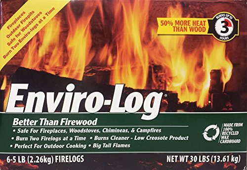 Sale!! Enviro-Log, Fire Log, 80 Ounce, 6 Pack