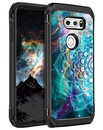 BENTOBEN LG V30 Case, LG V30+ Case, LG V35 ThinQ Case Hybrid Dual Layers Nebula Mandala Design Hard PC Flexible TPU Cover Slim Shockproof Protective Phone Case Madala