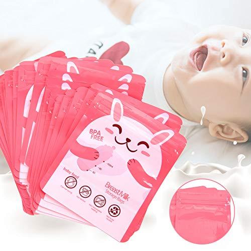 30 Stück/Set Muttermilch-Gefrierbeutel, doppelte auslaufsichere Versiegelungsstreifen,