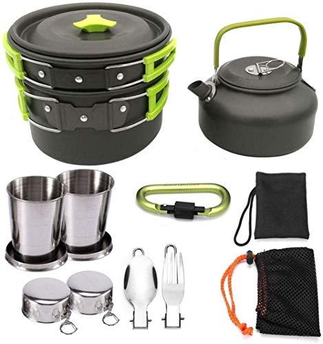 XHLLX Kit De Utensilios De Cocina De Camping De Aluminio De Utensio De Aluminio, Platos Portátiles para Pote Al Aire Libre