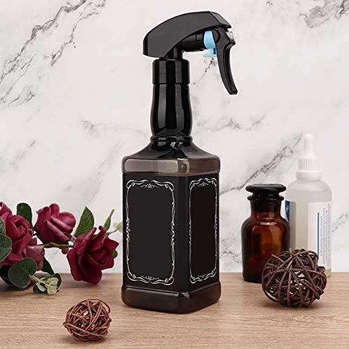 Rociador de agua de peluquería con botella de spray vacía recargable y conveniente para uso diario para uso en salón de peluquería para uso profesional(black)