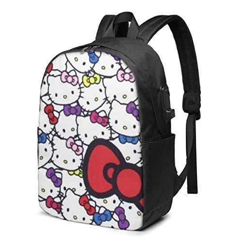 Hello Kitty Cartoon Shrek Backpack- USB Charging Port/Stylish/Laptops/Work Travel School