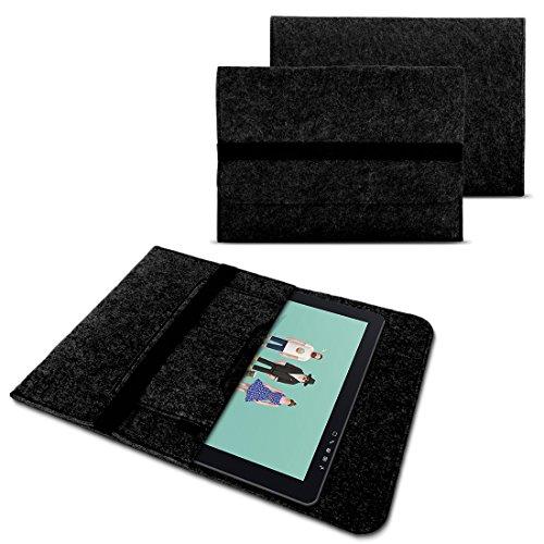 NAUC Funda para Wacom Cintiq Pro 16 Tableta Gráfica Bolsillo Tableta de 15,6 pulgadas Cover Fieltro Resistente con bolsillos interiores y cierre seguro Gris, Color: Gris Oscuro