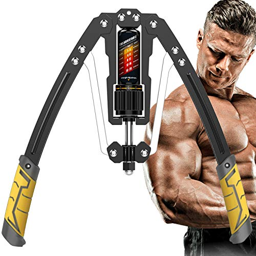 EAST MOUNT Twister Arm Exerciser - Adjustable 22-440lbs Hydraulic Power, Home Chest Expander, Shoulder Muscle Training Fitness Equipment, Arm Enhanced Exercise Strengthener. (Yellow)