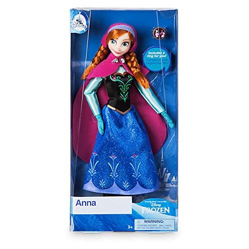 Official Disney Frozen 30cm Anna Classic Doll with Ring