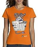 latostadora - Camiseta Kit de Traducción · para Mujer Naranja XL