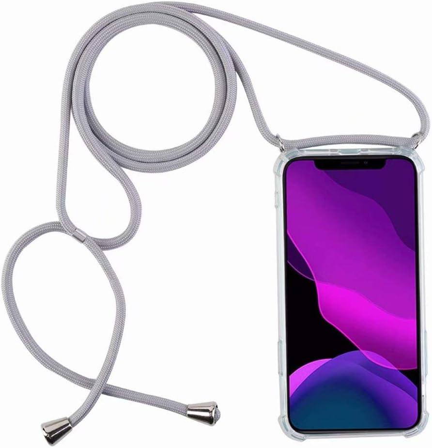 2ndSpring Funda con Cuerda Compatible con Xiaomi Redmi 7,Colgante Collar Correa de Cuello Cadena Cord/ón,Rosa Verde
