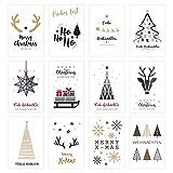 Edition Seidel Set 12 exklusive Premium Weihnachtskarten mit Umschlag....