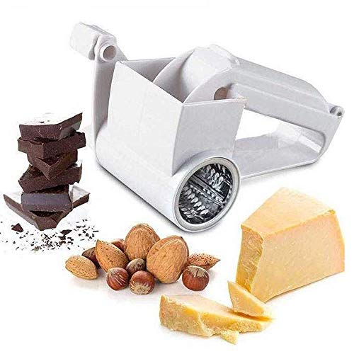 Rotary Cheese Grater Shredder Nut Grinder Manual Vegetable Slicer Slicer...