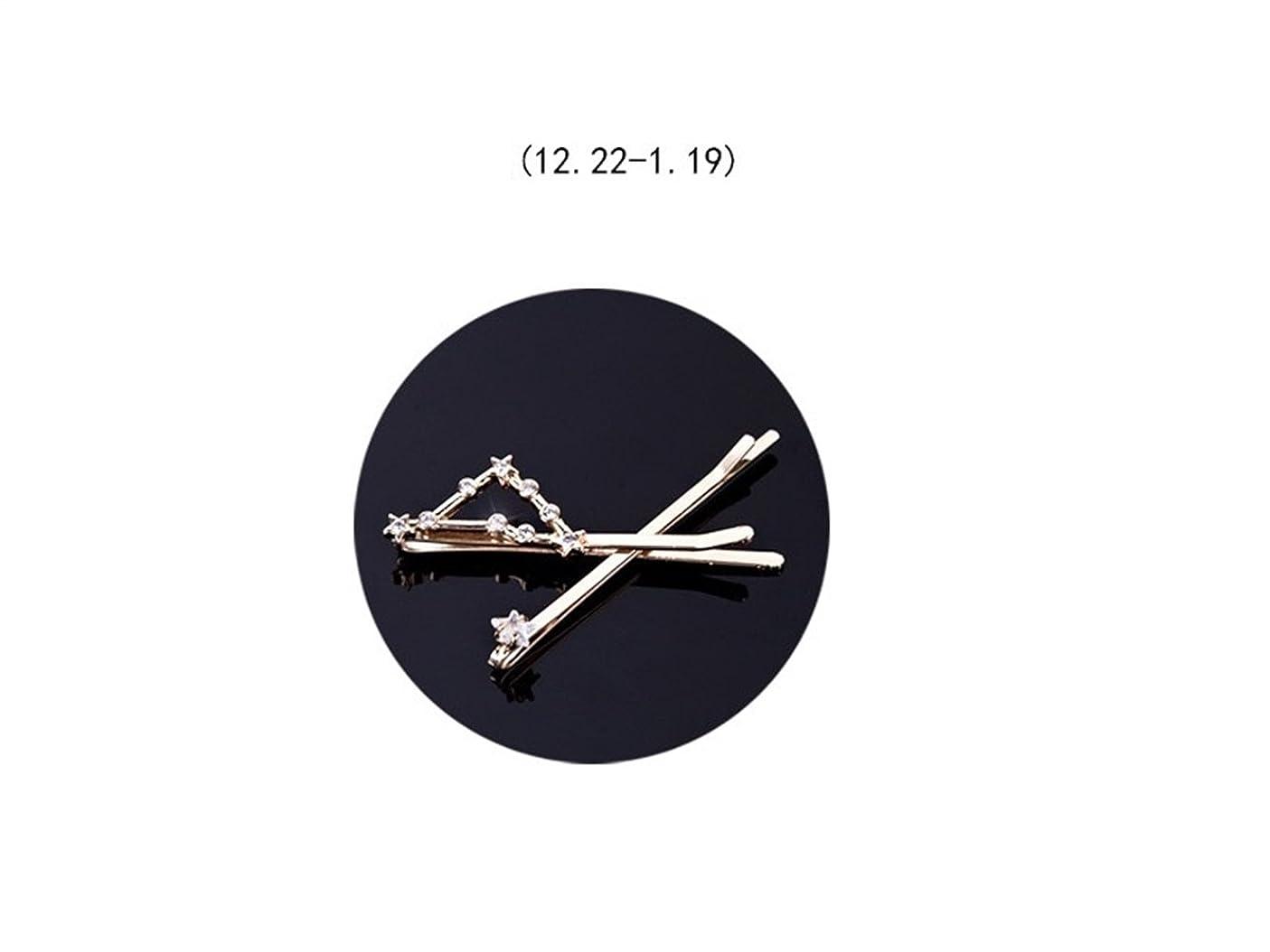 大きい保存落花生Osize 美しいスタイル 12コンステレーションダイヤモンドジュエリーサイドクリップヘアピンヘアクリップセット(塩尻)