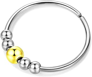 Fidget Rings Anxiety Ring With Beads Worry Finger Rings Adjustable Spinning Fidget Rings for Women Anxiety Rings For Men
