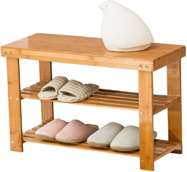 ZHIRONG Multifunction 3 Floors shoes Rack Bamboo shoes Bench Storage Rack shoesbox Organizer Bookshelf 50  26  45CM   60  26  45CM   70  26  45CM   80  26  45CM   90  26  45CM